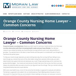 Orange County Nursing Home Lawyer : Moran Elder Law