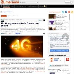 4G : Orange couvre trois Français sur quatre
