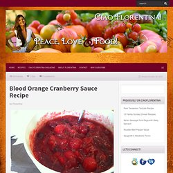 Blood Orange Cranberry Sauce Recipe