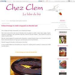 Crème d'orange et croûte craquante au chocolat noir