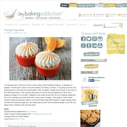 Orange Cupcakes with Cream Cheese Frosting