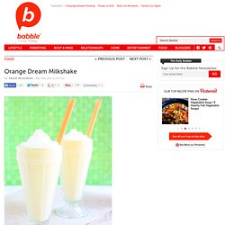 Orange Dream Milkshake