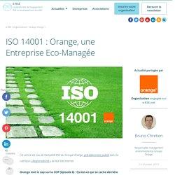 ISO 14001 : Orange, une Entreprise Eco-Managée
