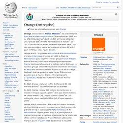 Orange (entreprise)