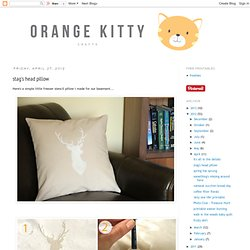orange kitty crafts: stag's head pillow