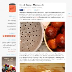 Food in Jars » Blood Orange Marmalade