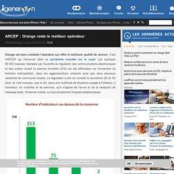 ARCEP : Orange reste le meilleur opérateur