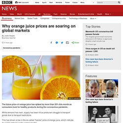 Why orange juice prices are soaring on global markets