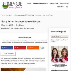 Easy Asian Orange Sauce Recipe