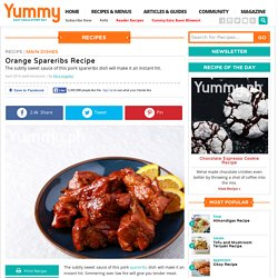 Orange Spareribs Recipe