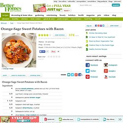 Orange-Sage Sweet Potatoes with Bacon Recipe