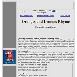 Oranges and lemons rhyme