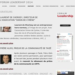 Orateurs | Forum Leadership 2013