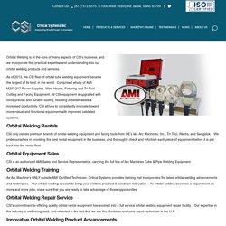 Tube & Pipe Orbital Welder - Critical Systems Inc.