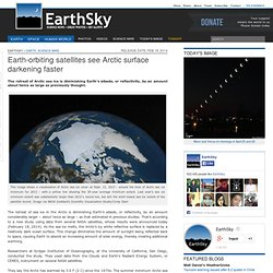 Earth-orbiting satellites see Arctic surface darkening faster