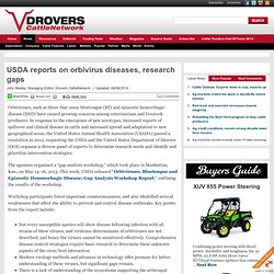Résumé: DROVERS 09/09/14 USDA reports on orbivirus diseases, research gaps