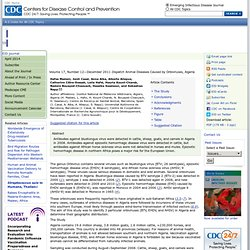 CDC EID - DEC 2011 - Animal Diseases Caused by Orbiviruses, Algeria;