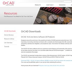 OrCAD Downloads