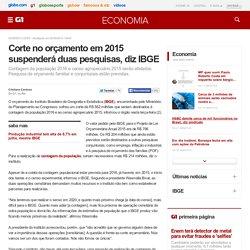 Economia - Corte no orçamento em 2015 suspenderá duas pesquisas, diz IBGE