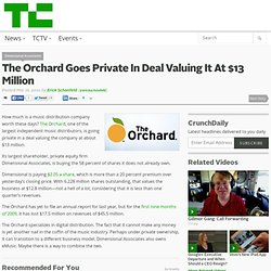 The Orchard Goes Private In Deal Valuing It At $13 Million