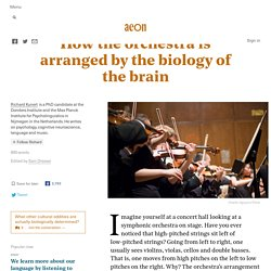 How the orchestra is arranged by the biology of the brain
