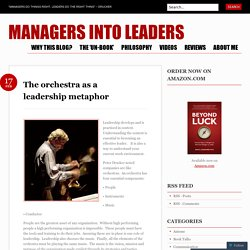 The orchestra as a leadership metaphor