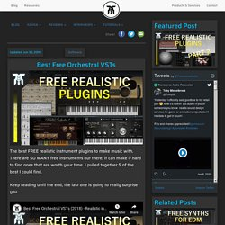 Best Free Orchestral VSTs