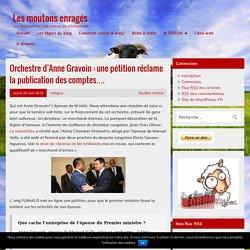 Orchestre d'Anne Gravoin : une pétition réclame la publication des comptes…. – Les moutons enragés