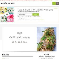 Orchid Wall Hanging - Martha Stewart Home and Garden