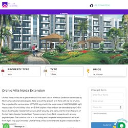 Orchid Villa in Greater Noida West