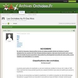 Les Orchidées Au Fil Des Mois - Questions / Réponses - Forums Orchidees.fr