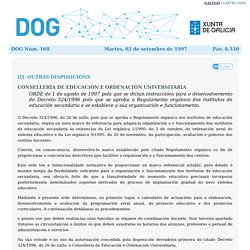 Orde do DOG nº 168 do 02/09/1997