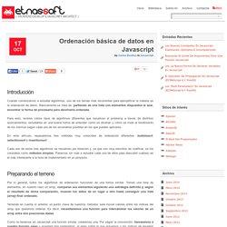 Ordenación básica de datos en Javascript