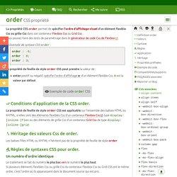 order CSS propriété