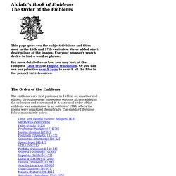 Order of Emblems