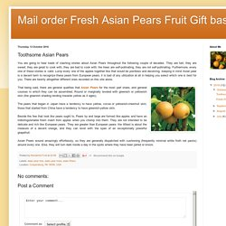 Toothsome Asian Pears
