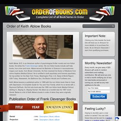 Order of Keith Ablow Books - OrderOfBooks.com