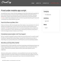Food order mobile app script - FoodEsy -