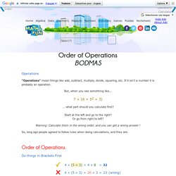 Order of Operations - BODMAS