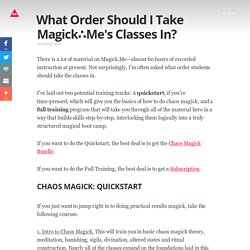What Order Should I Take Magick.Me's Classes In?