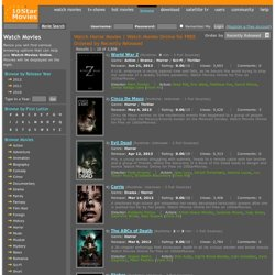 Watch Horror Movies | Watch Movies Online for FREE Ordered by Recently Released