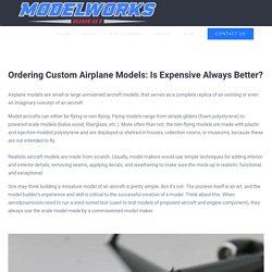 Ordering Custom Airplane Models: Is Expensive Always Better?