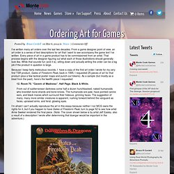 Ordering Art for Games | Monte Cook Games