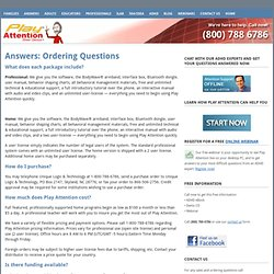 Answers: Ordering Questions