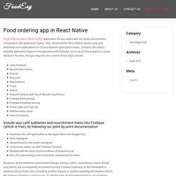 Food ordering app in React Native - FoodEsy