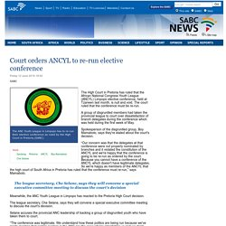 Court orders ANCYL to re-run elective conference:Friday 12 June 2015
