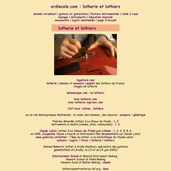 ordiecole.com : lutherie et luthiers