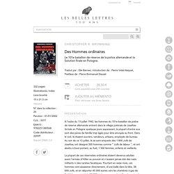 Des Hommes ordinaires - Collection Histoire