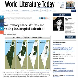 """No Ordinary Place: Writers and Writing in Occupied Palestine,"" Rima Najjar Merriman"