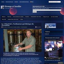 Le «WinePod», l'ordinateur qui fabrique du vin maison
